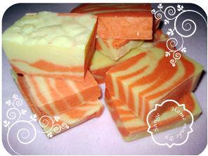 Savons marbrés gingembre/mandarine/girofle