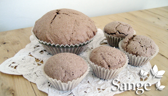 Muffins de bain au cacao